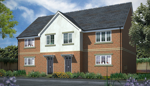 Some of the new homes built by NHCF